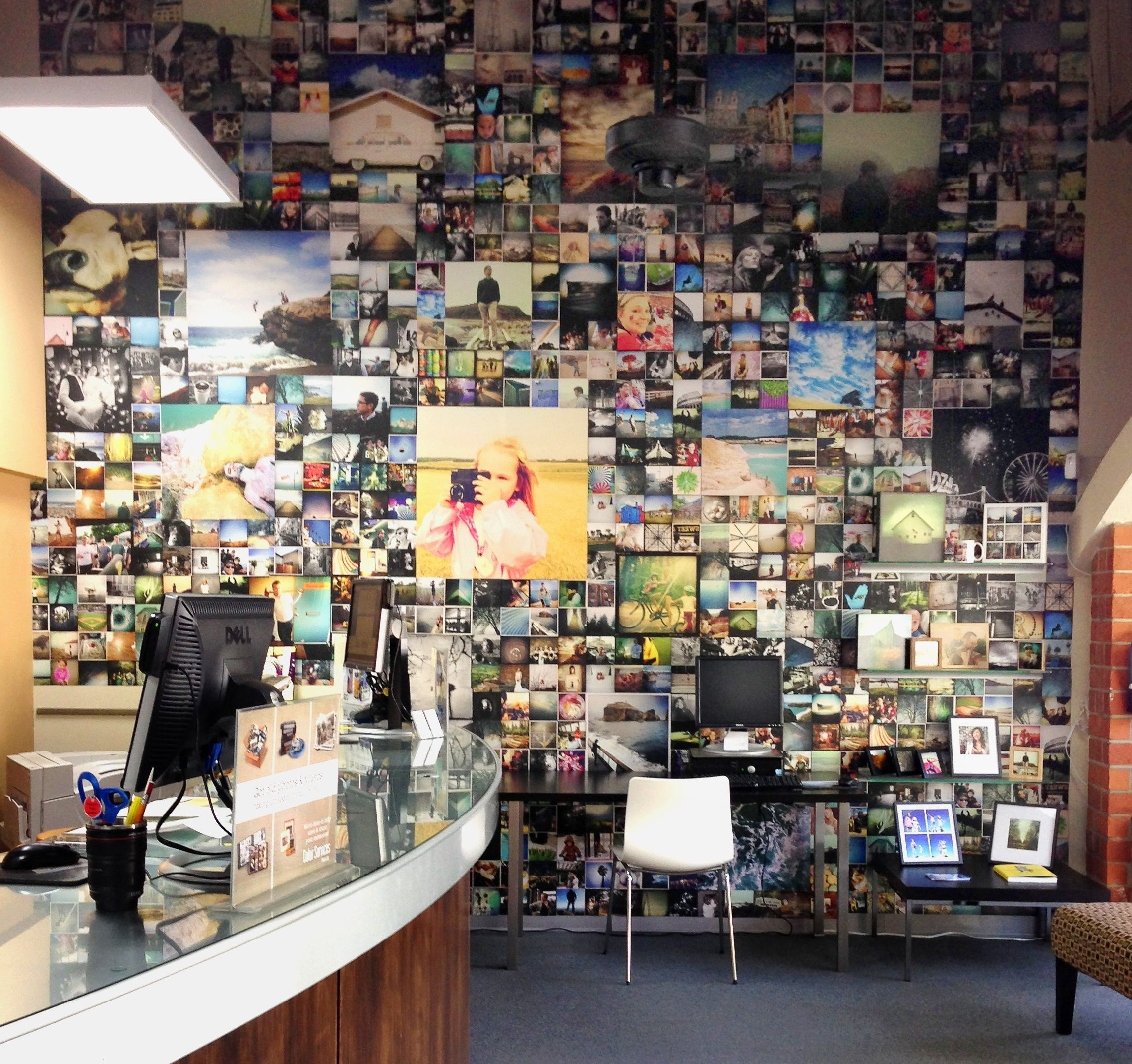 Color services inspires with a unique photo collage wall