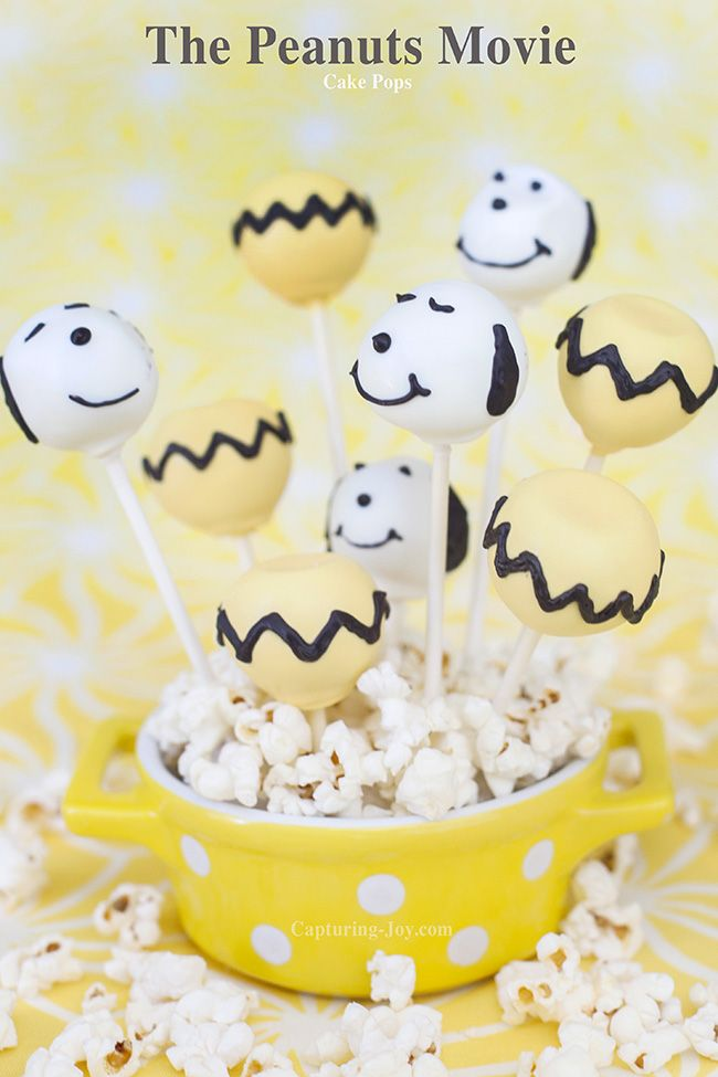 The Peanuts Movie Cake Pops, have a party in honor of the movie, and make a fun themed treat!