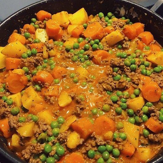 Omas Hackfleischpfanne mit Gemüse von verenafieb | Chefkoch