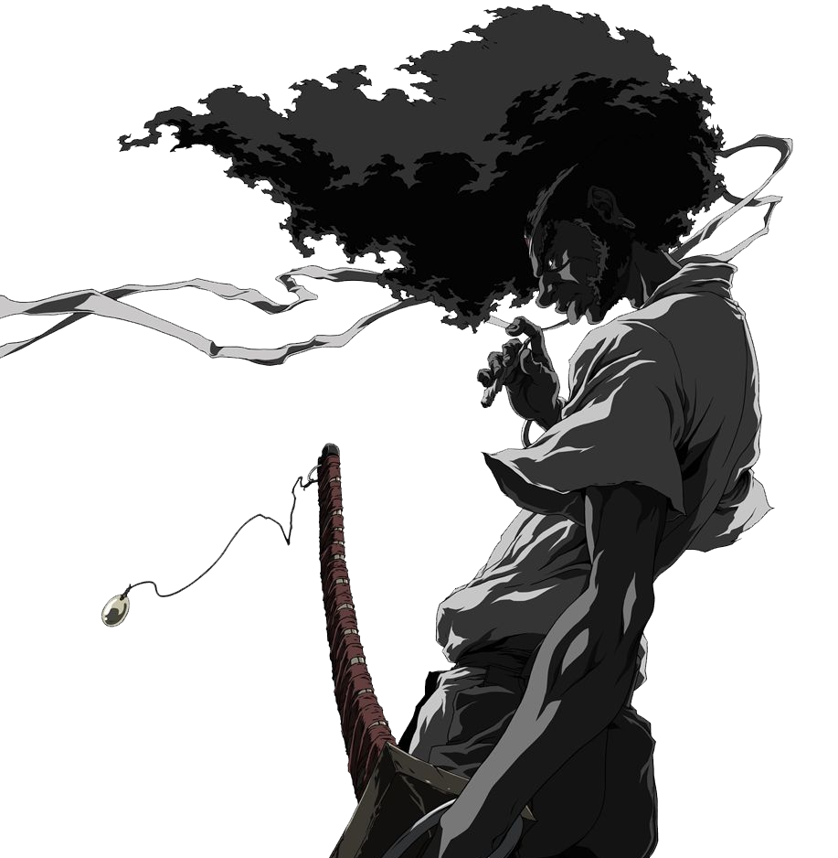 /' Afro Samurai /' Cartoon Framed Canvas Wall Art Deco ~ It/'s Just Revenge ~