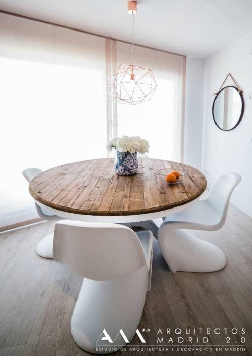 Mesa comedor moderna minimalista madera: comedores de estilo ...