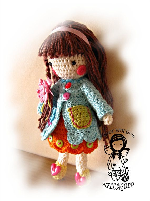 Crochet PATTERN Toy Crochet Doll Madlenka by NellagoldsCrocheting