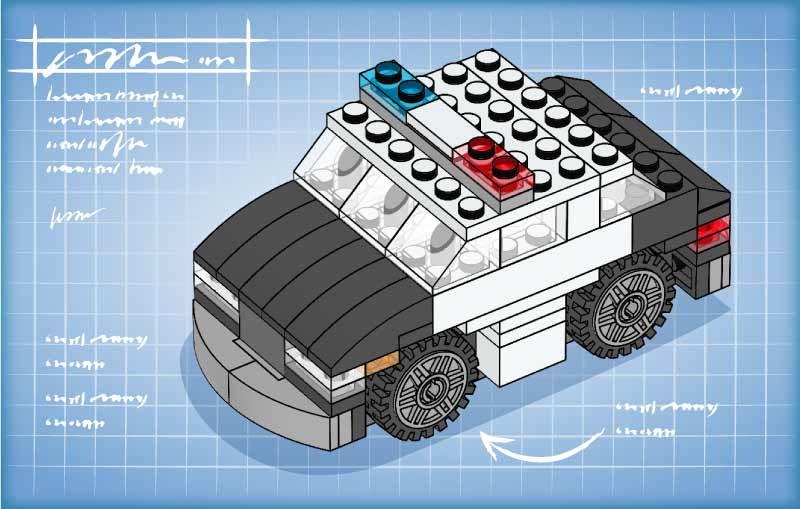 LEGO.com LEGO Club Building Instruction - Police car