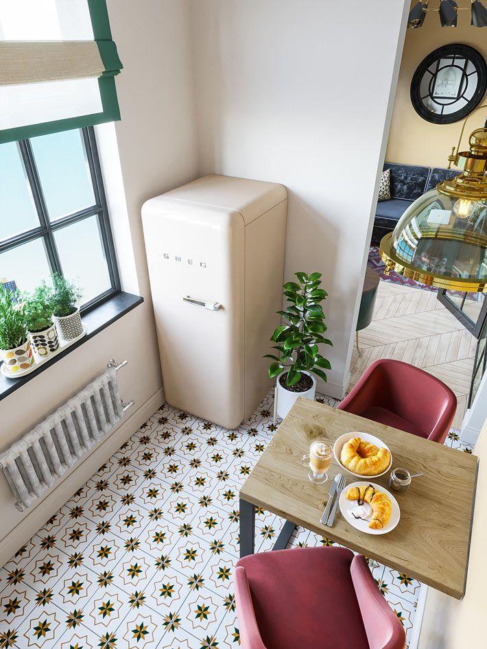 Дизайн малогабаритной квартиры в ярких красках   Фото ...
