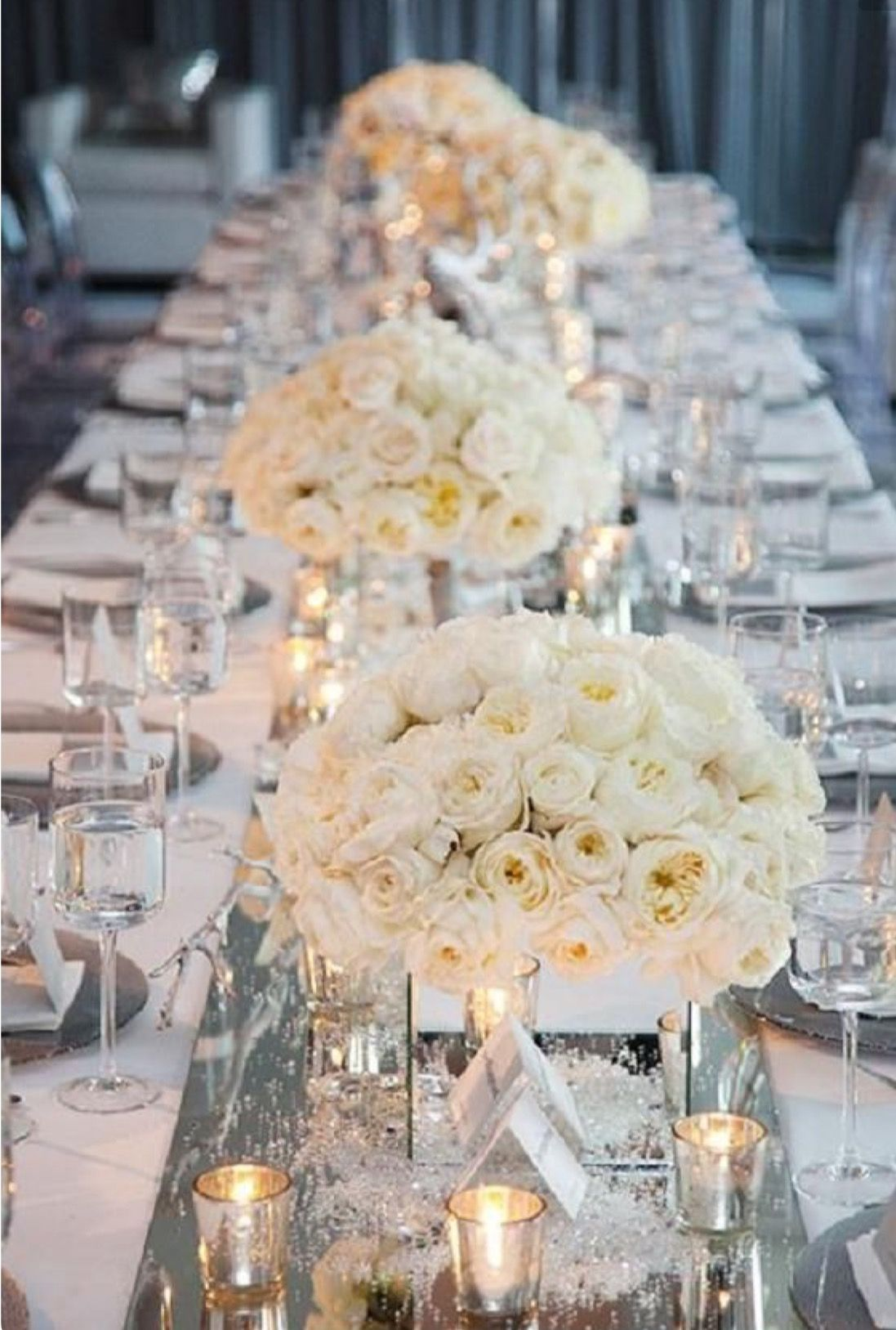 The Mirrored Centerpieces Are Perfection Summer Wedding Ideas