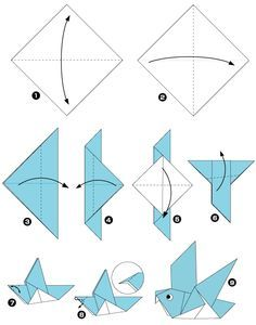 Pigeon En Origami Origami