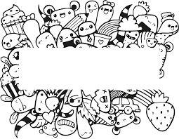 Template Doodle Art Name Seni doodle Seni Desain grafis