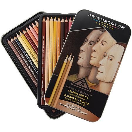 prismacolor premier colored pencils 24 pencil set for skin tones
