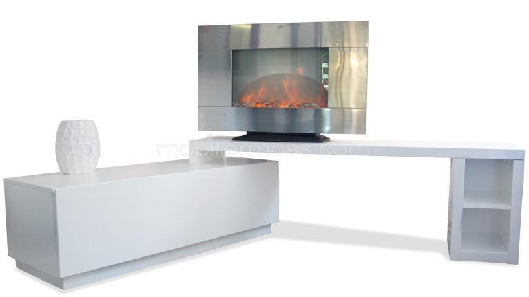 mara meuble tv laqu modulable meuble tv angle meuble et meuble tv
