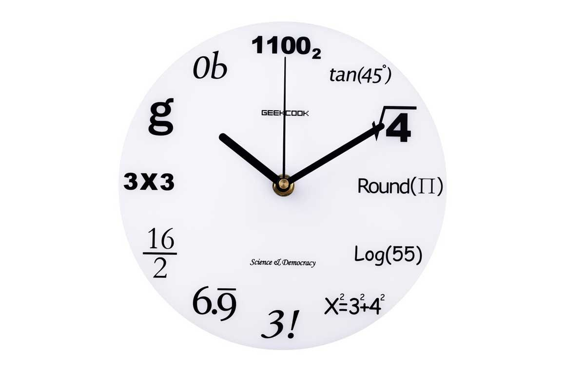 Worksheet Math Clock geekcook nerd mathematics symbols acrylic decorative geek wall clock