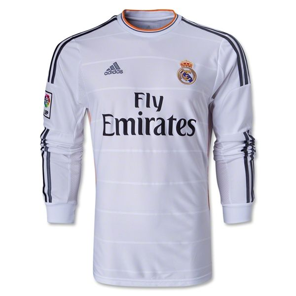 best cheap 0ff05 3e907 13-14 Real Madrid Home Long Sleeve Jersey Shirt | For ...