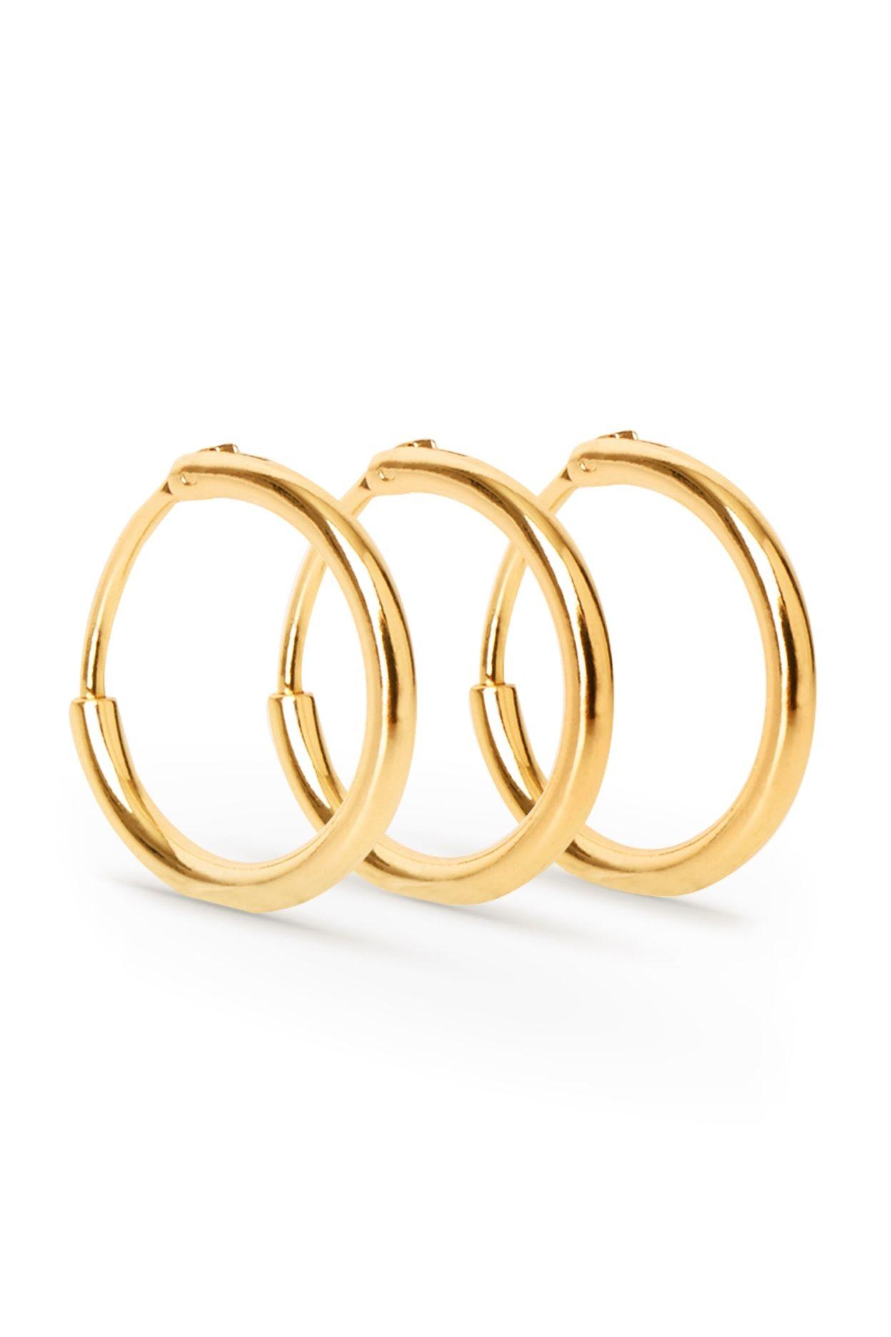 Hoop Earrings Set - Gold Weekday Eqmkr8w