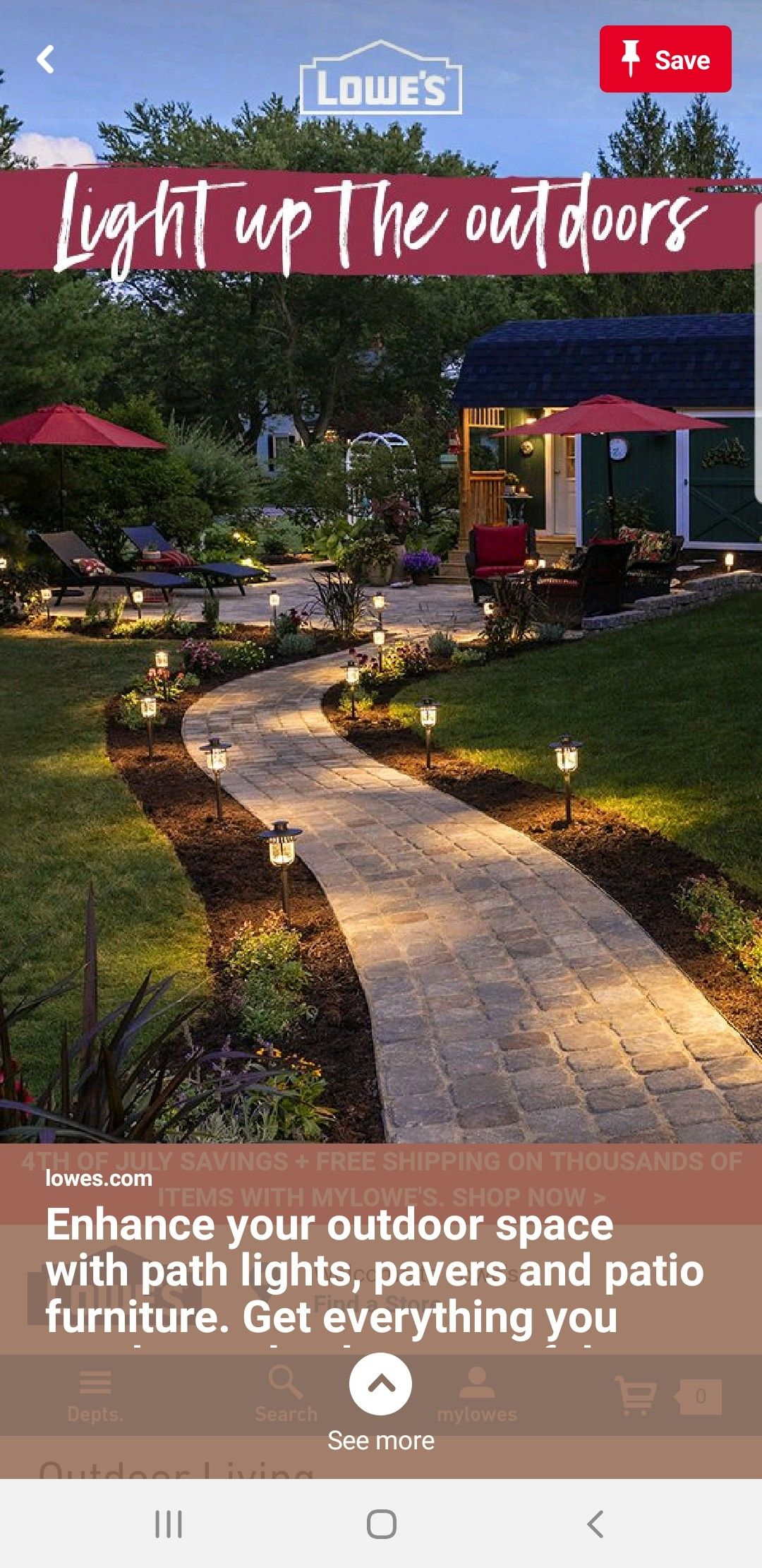 Pin By Jen Cocozza On Landscape Path Lights Outdoor Living Outdoor