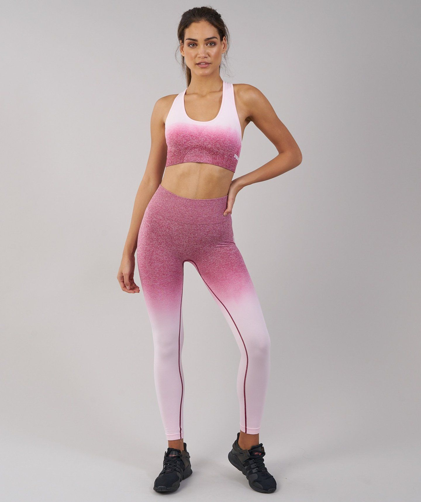 7536310aafedc Gymshark Ombre Seamless Leggings - Chalk Pink/Beet | Leggings ...