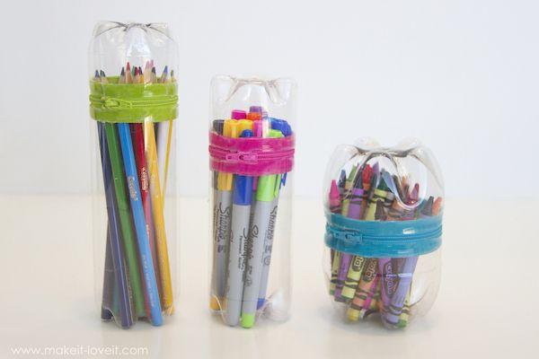 5 manualidades recicladas con botellas de pl stico - Manualidades con vasos de plastico ...