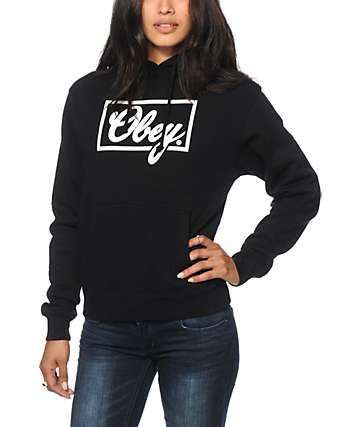 6cfb3382d230 Obey Club Script Black Hoodie