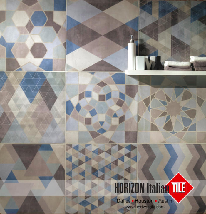 Patterned Tiling Does Not Get Any Better Than This The Design For This Bathroom S Wall Is Impeccable Hit Tile Design Patterns C Flooring Tile Floor Tiles