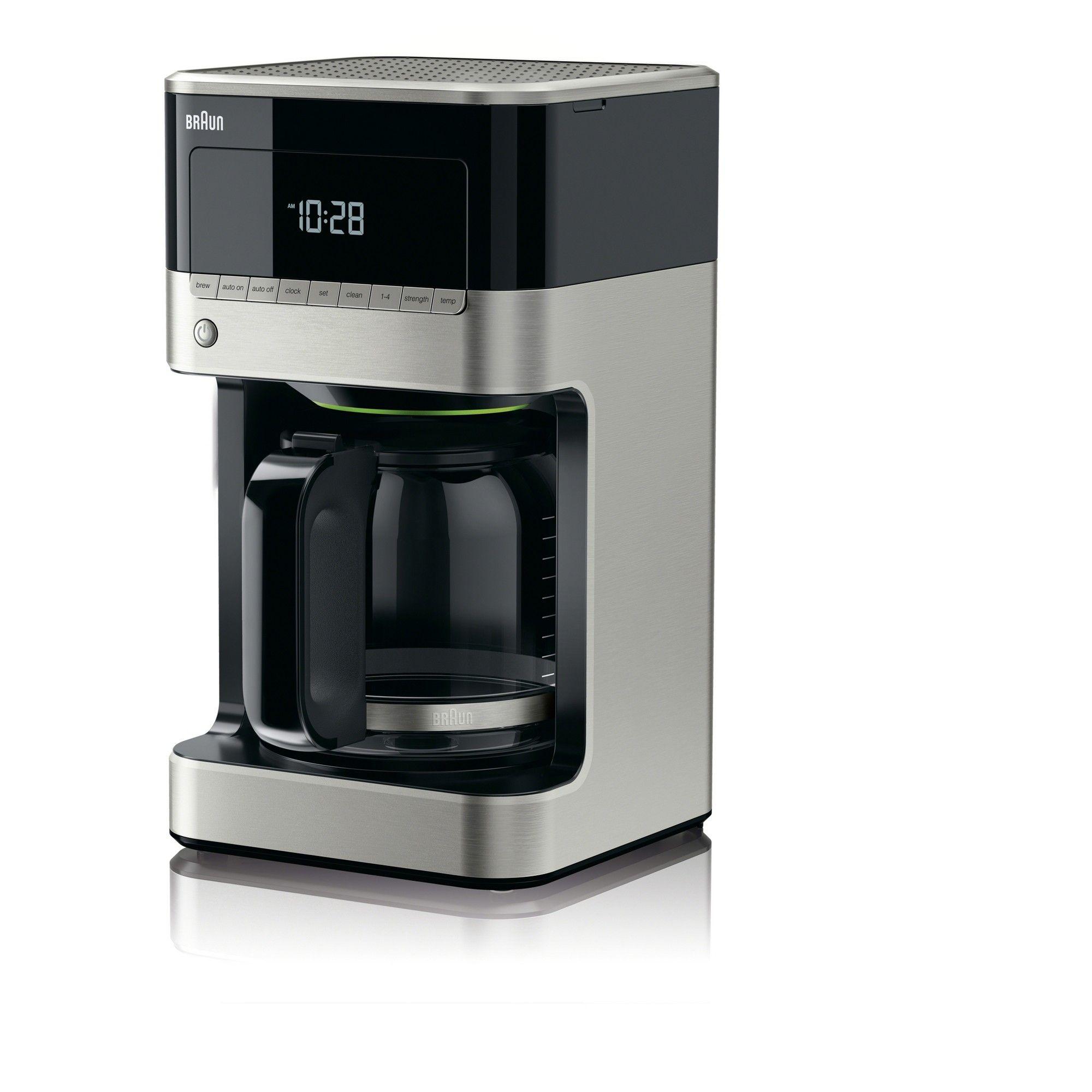 Braun Coffee Maker Stainless Steel & Black, Silver Black
