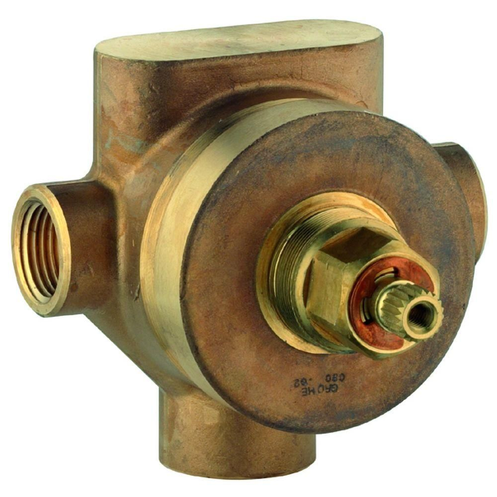 Grohe 1 2 In Brass 3 Port Diverter And Transfer Valve Plumbing