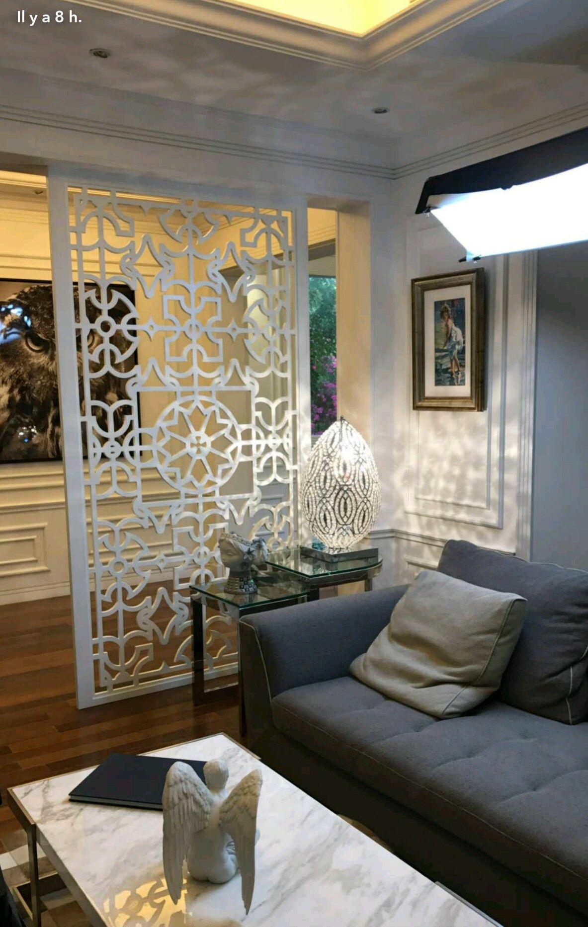 Separation salon  Idée de décoration, Idee deco salon, Separation