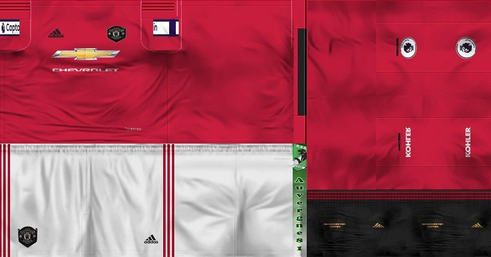 Kit Home Manchester United 2019 2020 Pes Ppsspp Nurbayhaqi In 2020 Manchester Manchester United Cool Super Powers