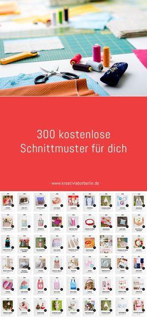 Jetzt wird genäht: 300 kostenlose Schnittmuster für dich | nähen ...