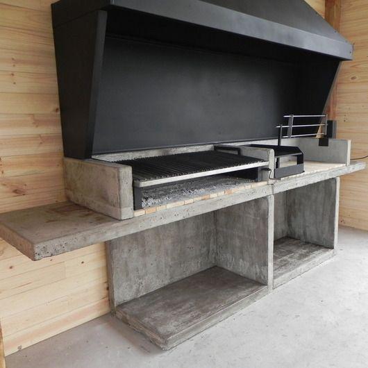 m dulos de hormig n para quinchos varvacoa outdoor kitchen pinterest aussenk che. Black Bedroom Furniture Sets. Home Design Ideas