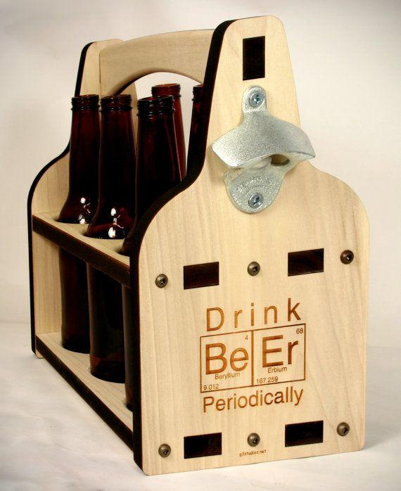 Beer Caddy With Bottle Opener Wooden Bottle Holder Tote Etsy Beer Caddy Beer Crate Wooden Beer Caddy