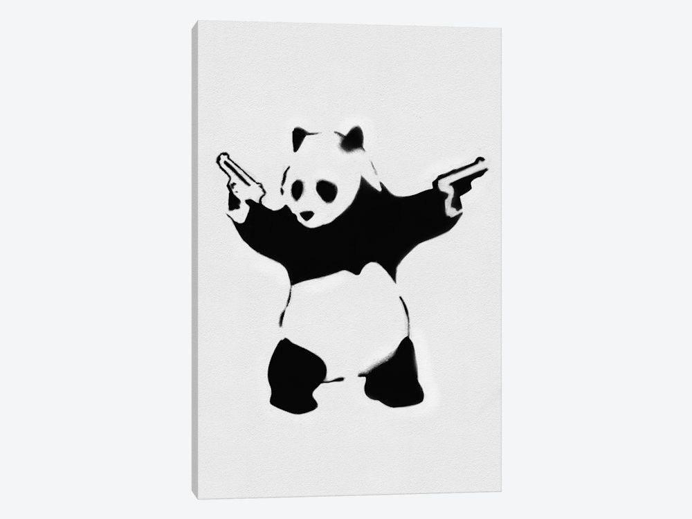 Panda With Guns by Banksy Canvas Print 40\