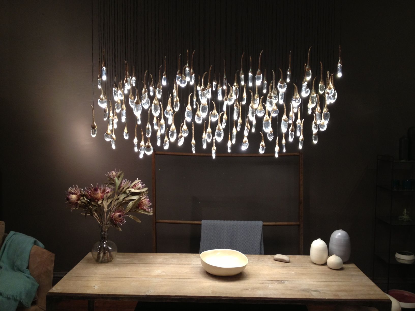Seed Pod Light Aspen Alps Ochre Lighting Dining