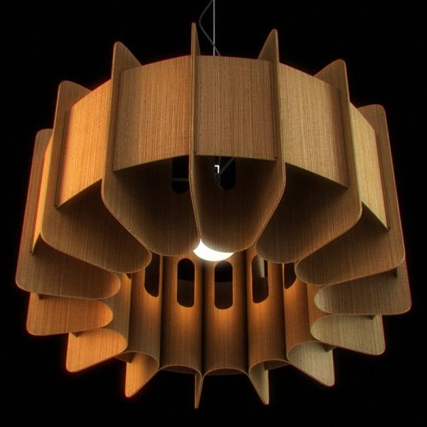 Chandelier with wooden lampshade 01 interiors 3d models lampen chandelier with wooden lampshade 01 interiors 3d models aloadofball Image collections