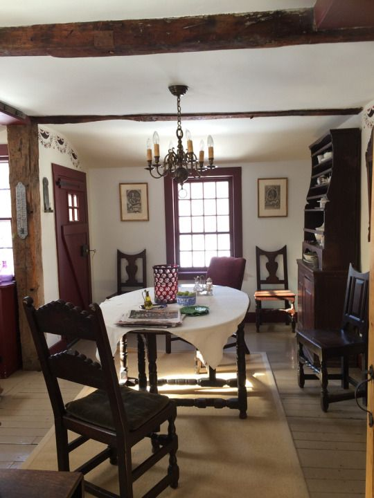 Room of the Day ~ charming & subtle Litchfield, CT dining room of Annie Kelly 7.2.2016