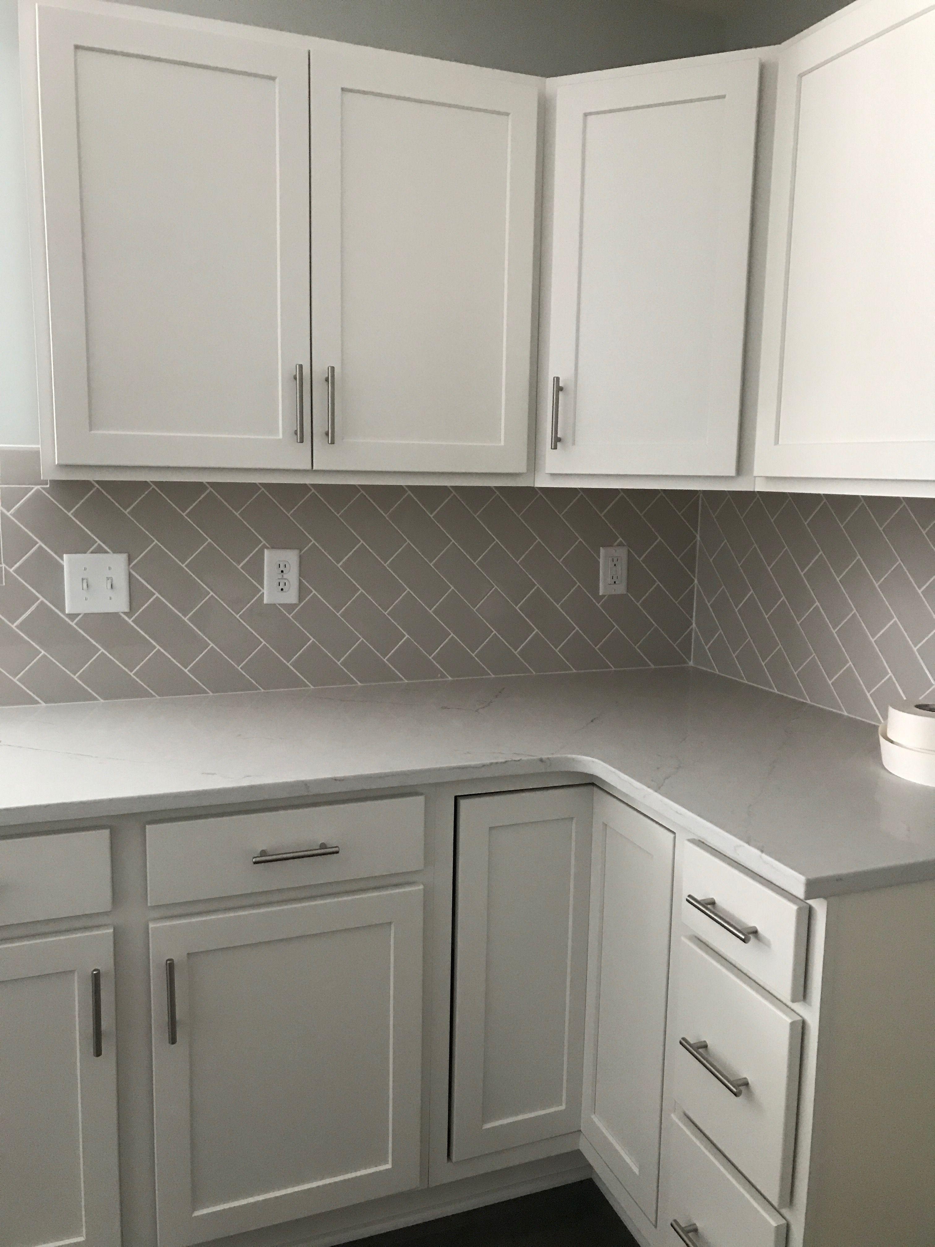 Diagonal Offset 3x6 Kitchen Backsplash White Tile Kitchen