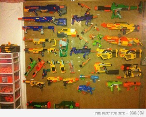College Dorm Nerf Gun Wall