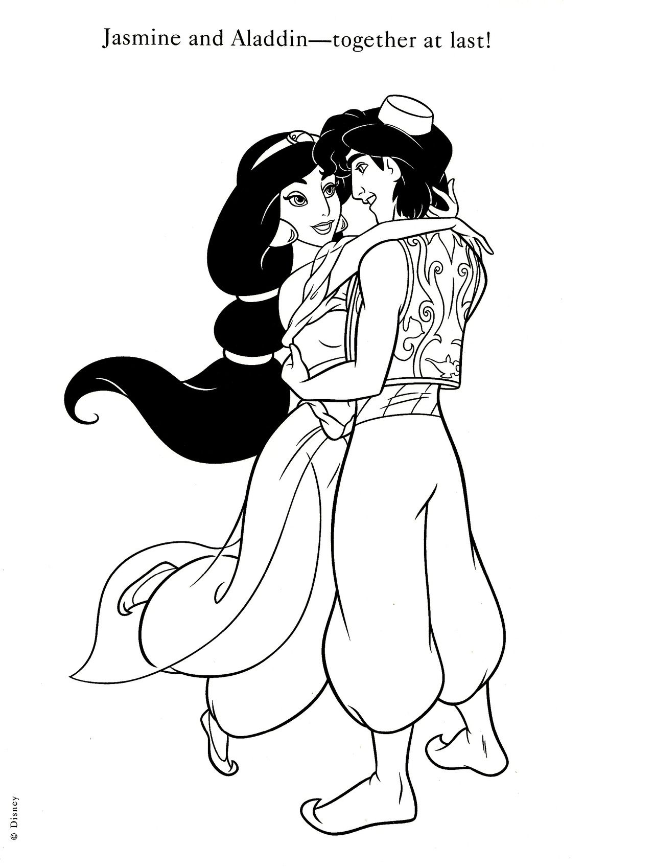 Aladdin And Jasmine Coloring Pages Free Coloring Pages Download ...