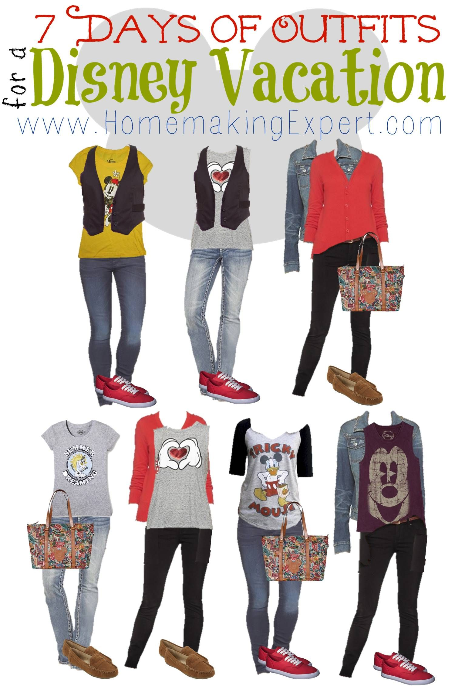 7 Day\'s of outfits for a Disney Vacation! Disney Fashion * Women\'s ...