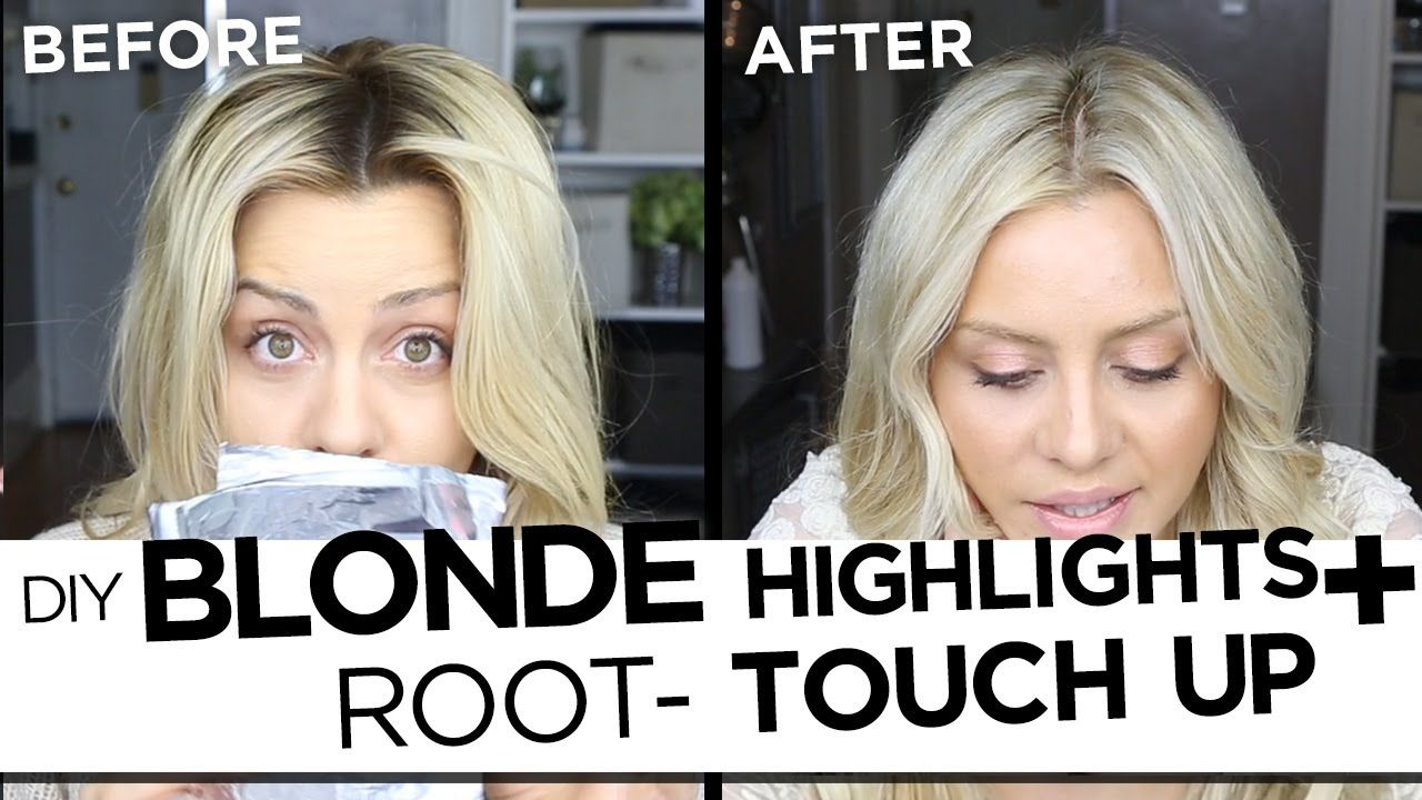 Diy Blonde Highlights And Root Touch Up Tutorial My