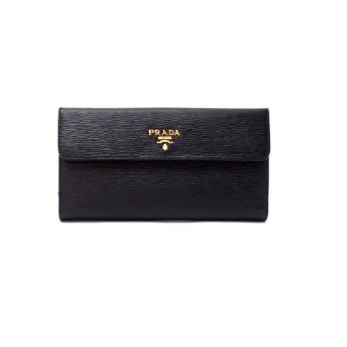 f6e5f18f67e3 Prada Womens 1MH133 2EZZ Vitello Move Leather Wallet Nero (Black ...
