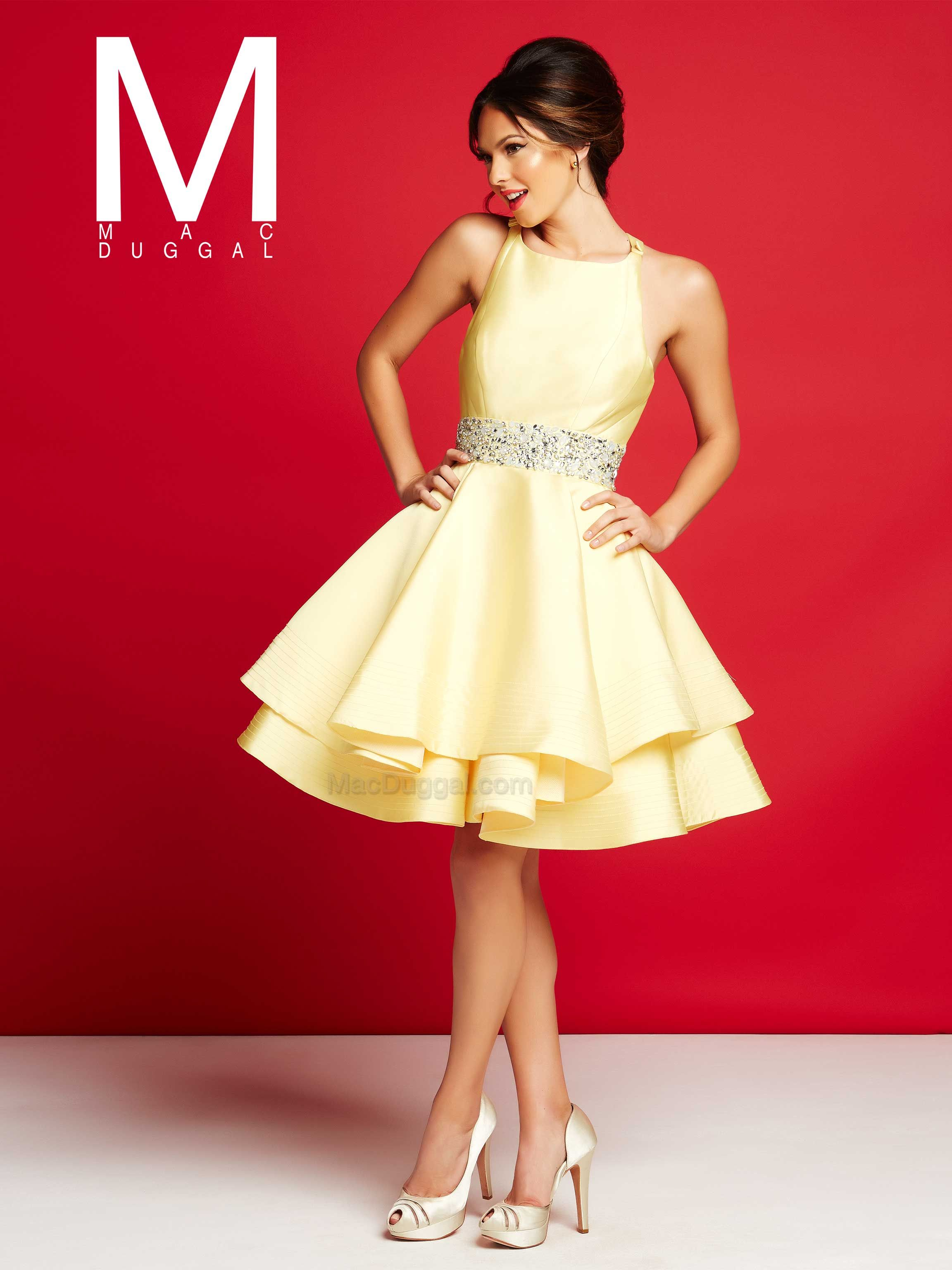 Short Yellow Cocktail Dresses