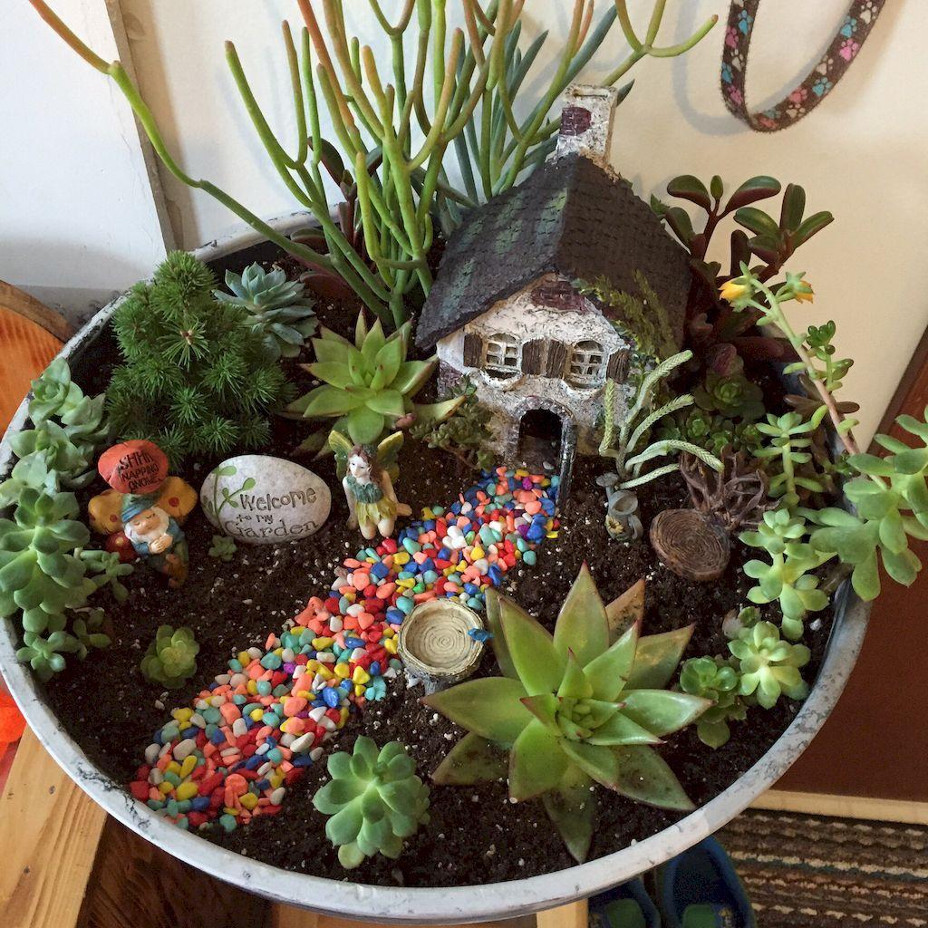 80 Beautiful DIY Fairy Garden Outdoor Ideas | Gardens, Beautiful ...