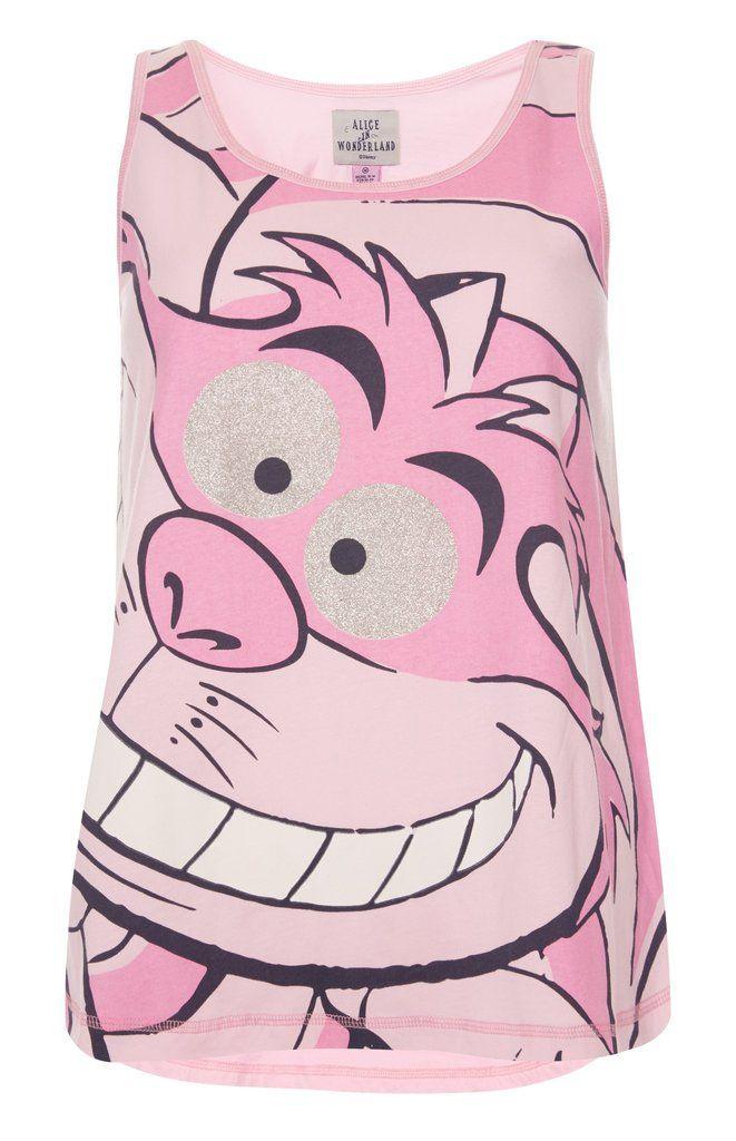 3c39e581 PRIMARK Cheshire Cat Vest T-Shirt alice in wonderland NEW | cat ...