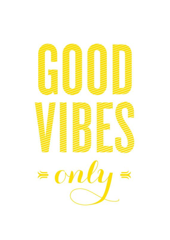 Good Vibes Only Wall Art Typography Quote Graphic Print. Available ...