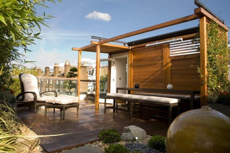 Penthouse Roof Terrace Kensington London Design And Build By Maria Ornberg Greenlinesdesign Co Uk Roofterracegarden Ro Pergola Pergola Plans Pergola Patio