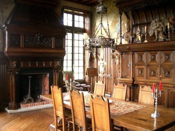 19th Century French Storybook Tudor Old World Style Manor House