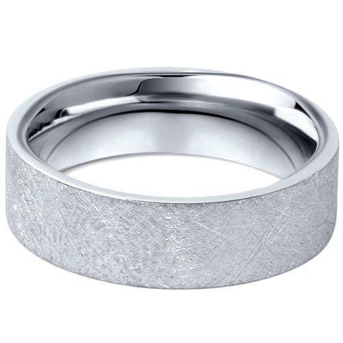 950 Platinum Mens 6MM Flat Brushed Wedding Band By Pompeii3