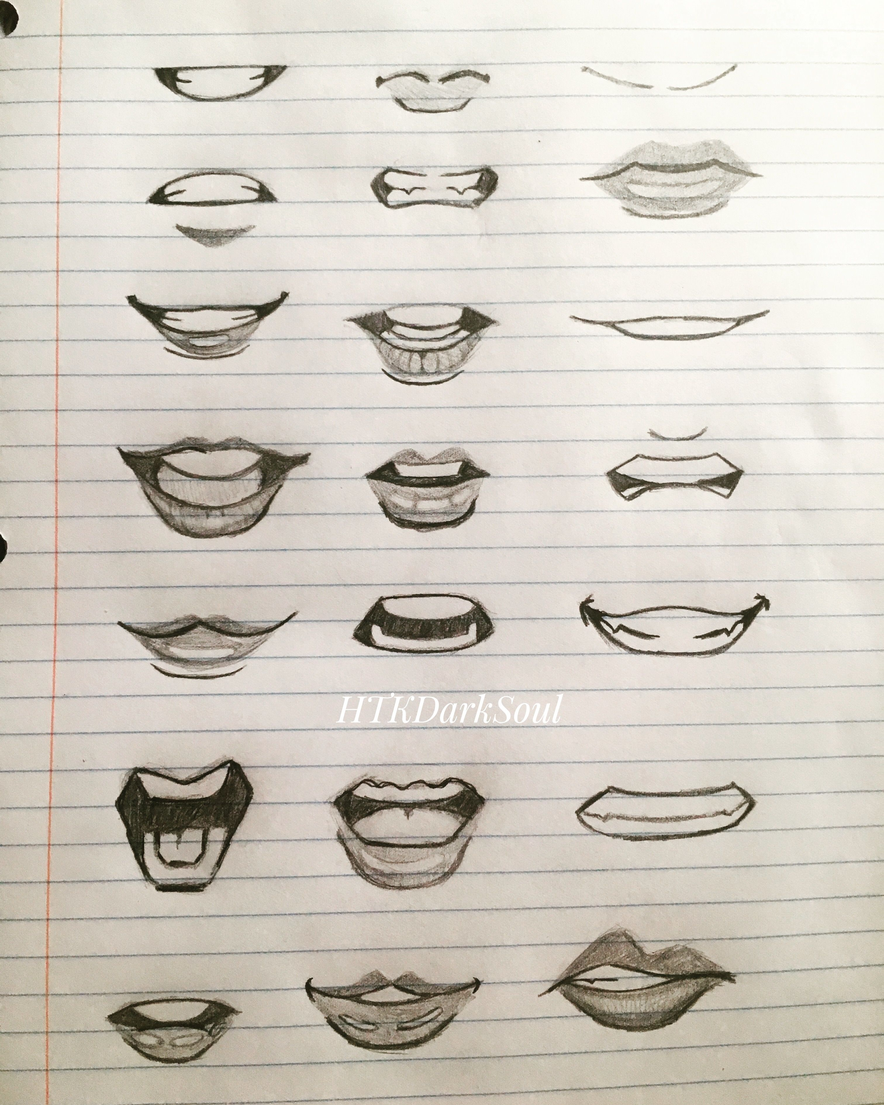 Anime Front View : anime, front, Different, Front, Mouths., —HTKDarkSoul, Anime, Mouth, Drawing,, Drawing