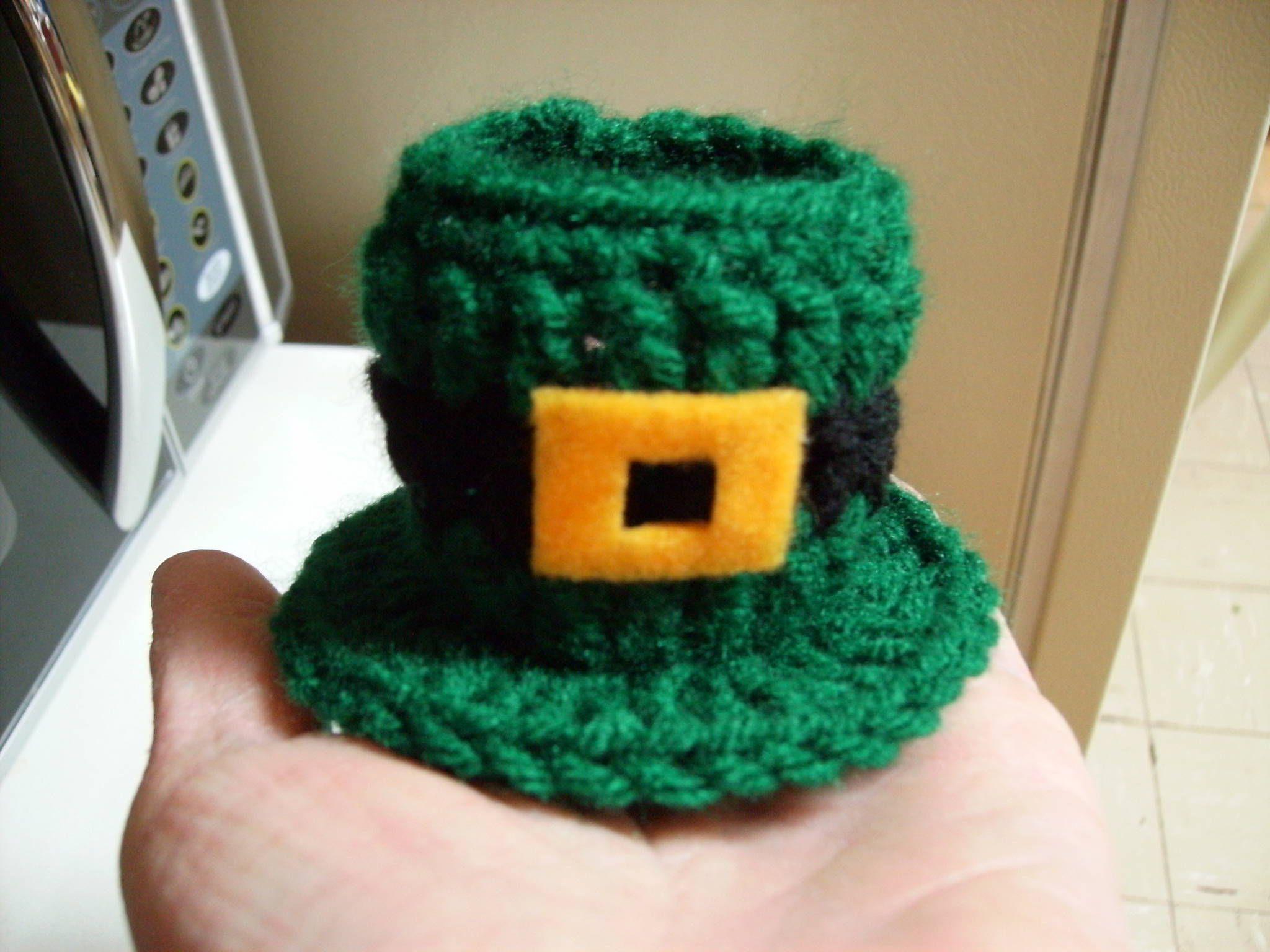 Free Amigurumi Leprechaun Pattern : Free leprechaun hat candy dish crochet pattern crochet st