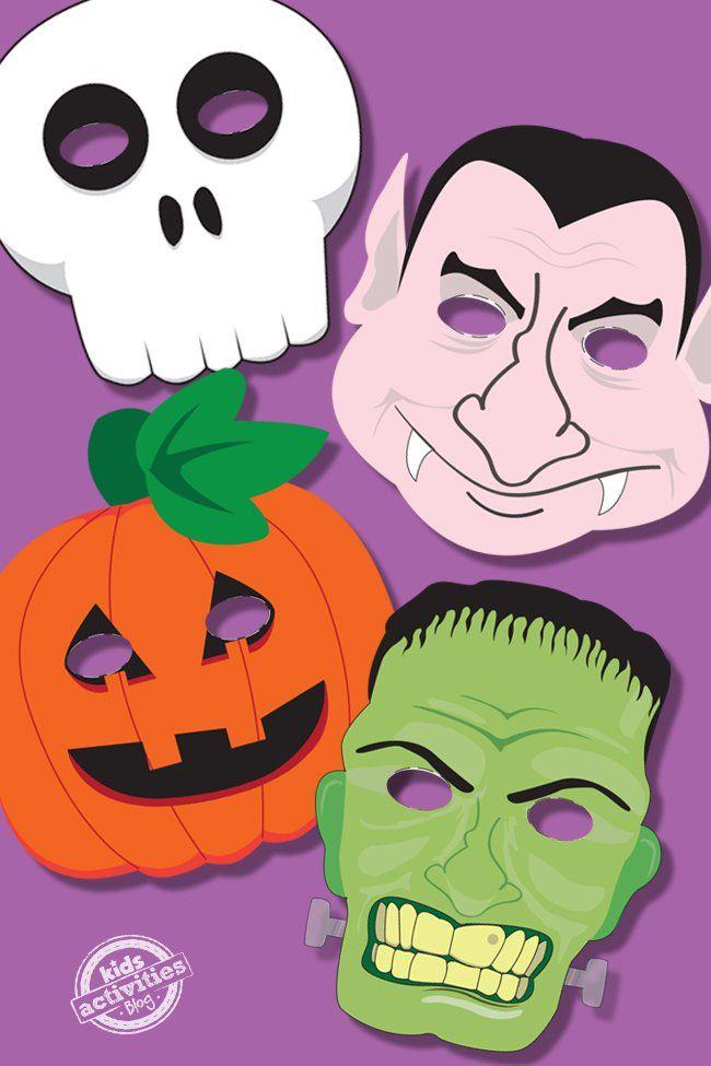 halloween masks free kids printable halloween masks kindergarten