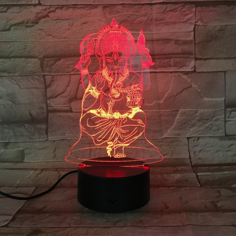 Led Lamps Buddha 7 Color Changing Night Lamp 3d Atmosphere Bulbing Light Visual Illusion Led Table Lamp Christmas Gift Home Decor