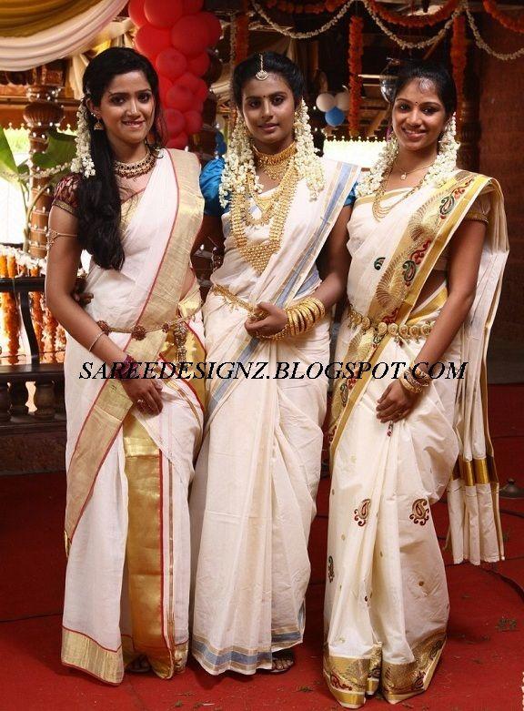 Poornima Indrajith White Saree Google Search Onam Saree Saree